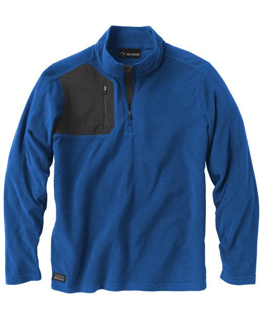 Dri Duck Men's 100% Polyester Nano Fleece TM 1/4 Zip Interval Pullover - Tech Blue