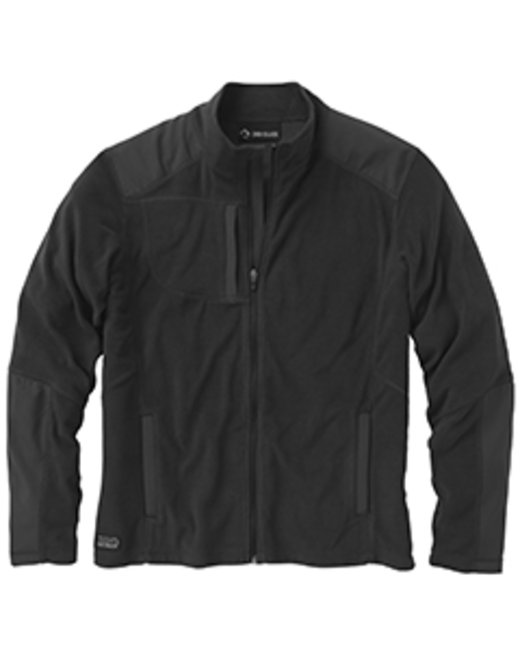 Dri Duck Men's 100% Polyester Nano Fleece TM Full Zip Jacket Explorer - Black