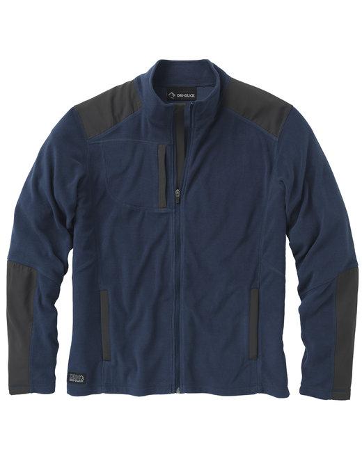 Dri Duck Men's 100% Polyester Nano Fleece TM Full Zip Jacket Explorer - Navy