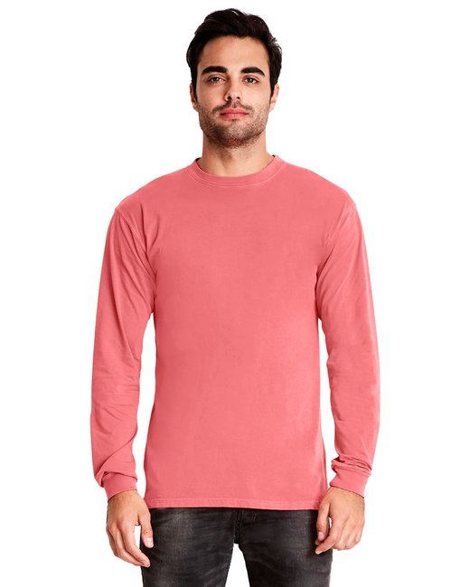 Next Level Adult Inspired Dye Long-Sleeve Crew - Guava