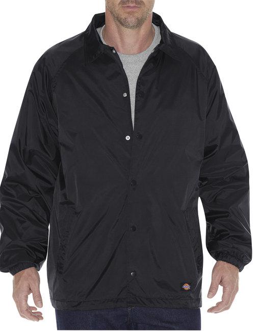 Dickies Unisex Snap Front Nylon Jacket - Black