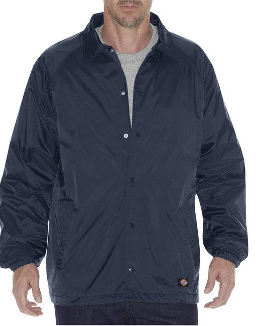 Dickies Unisex Snap Front Nylon Jacket - Dark Navy