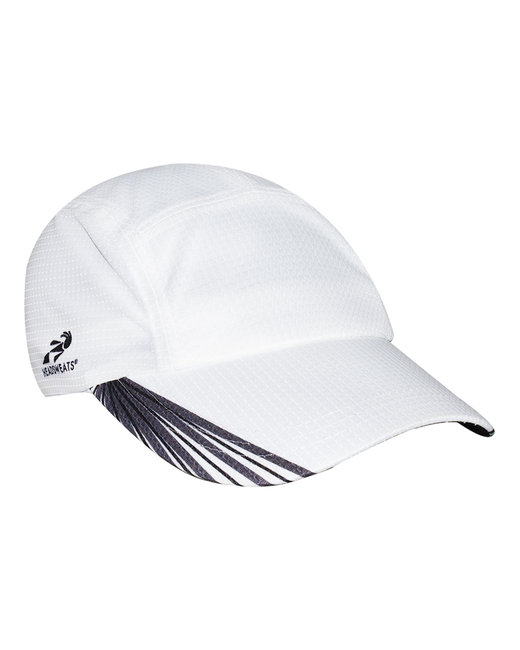 Headsweats Unisex Grid Race Hat - White/ Blk/ Gry