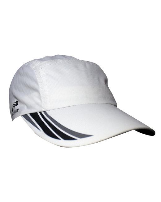 Headsweats Unisex Woven Race Hat - White/ Blk/ Gry