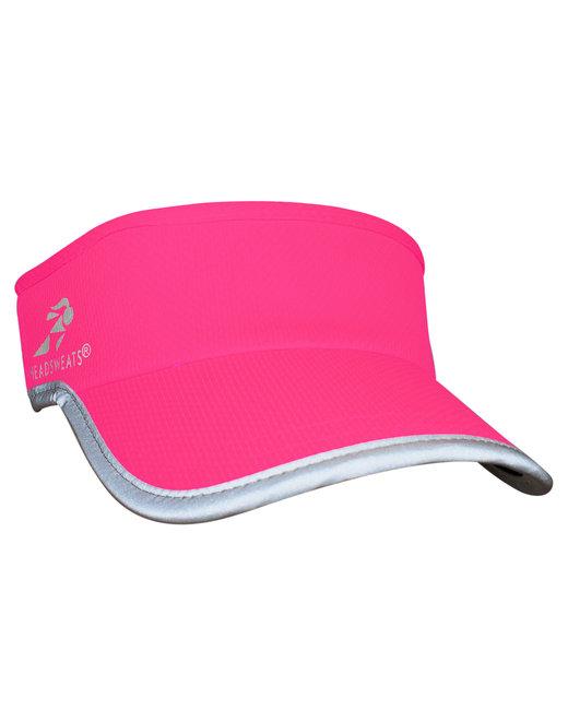 Headsweats Unisex Reflective Knit SuperVisor - Neon Pink