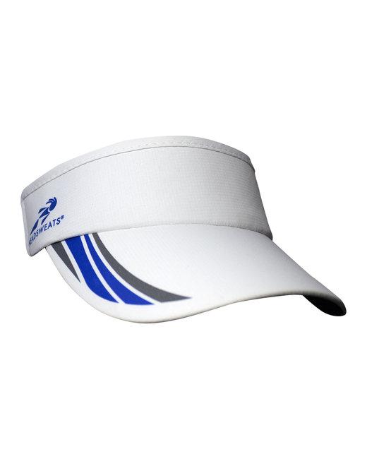 Headsweats Unisex Woven SuperVisor - White/Royal/ Gry