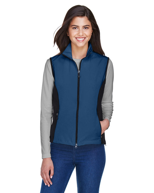 North End Ladies' Three-Layer Light Bonded Performance Soft Shell Vest - Regata Blue