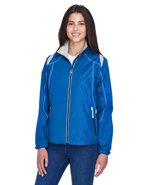 North End Ladies' Endurance Lightweight Colorblock Jacket - Nautical Blue