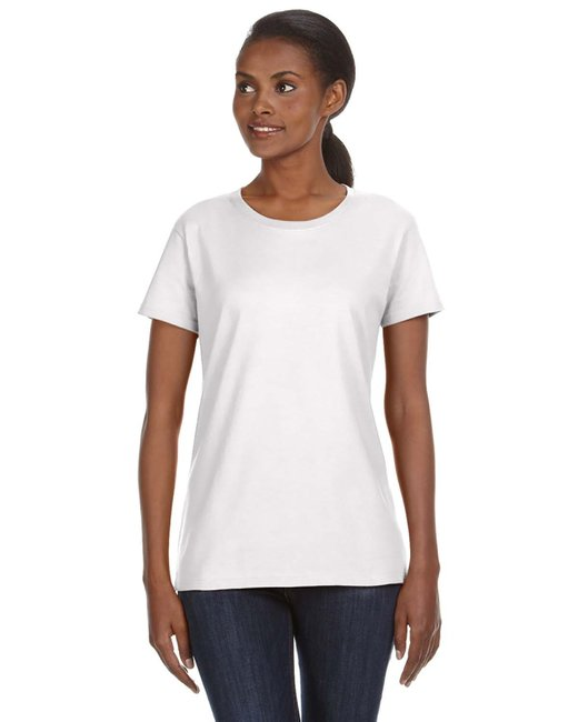 Anvil Ladies' Midweight Mid-Scoop T-Shirt - White
