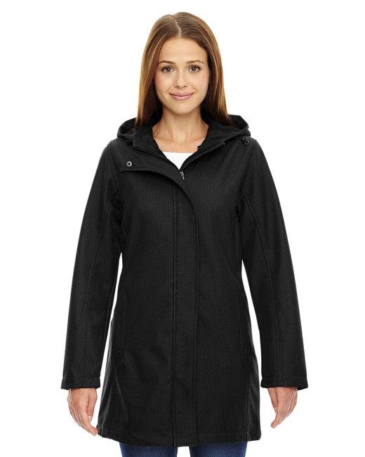 Ladies' City Textured Three-Layer Fleece Bonded Soft Shell Jacket