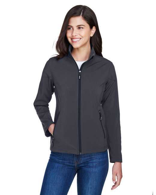 Core 365 Ladies' Cruise Two-Layer Fleece Bonded SoftShell Jacket - Carbon