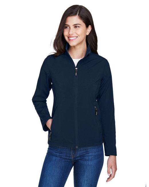 Core 365 Ladies' Cruise Two-Layer Fleece Bonded SoftShell Jacket - Classic Navy