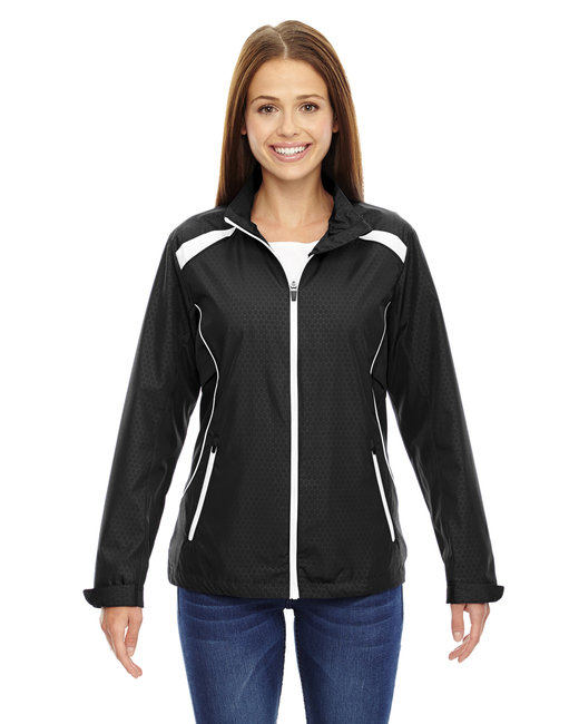 78188 North End Ladies' Tempo Lightweight Recycled Polyester Jacket with Embossed Print
