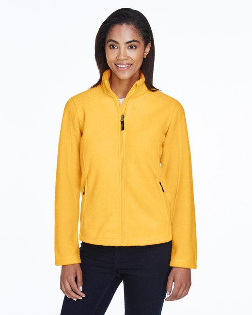 Core 365 Ladies' Journey Fleece Jacket - Campus Gold