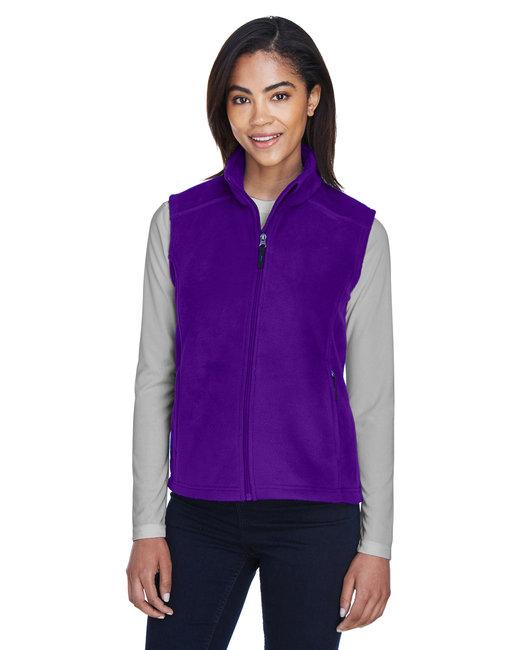 Core 365 Ladies' Journey Fleece Vest - Campus Purple