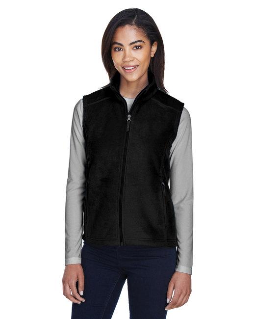 Core 365 Ladies' Journey Fleece Vest - Black