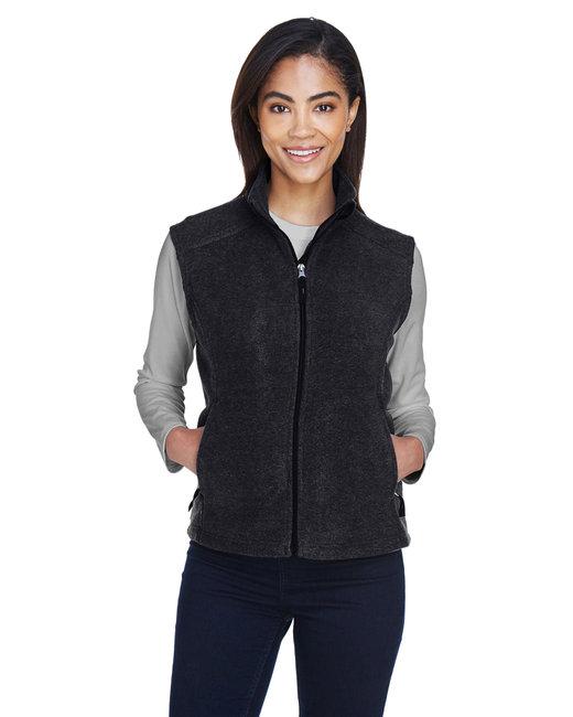 Core 365 Ladies' Journey Fleece Vest - Heather Charcoal