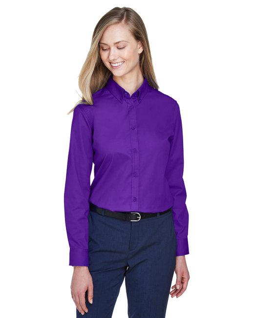 Core 365 Ladies' Operate Long-Sleeve Twill Shirt - Campus Purple