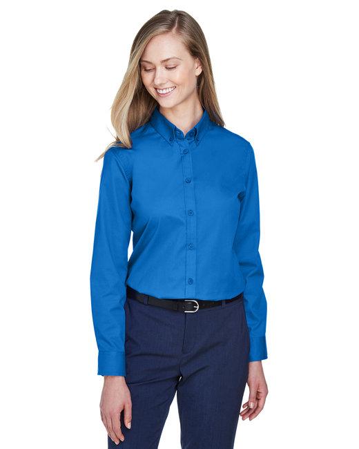 Core 365 Ladies' Operate Long-Sleeve Twill Shirt - True Royal