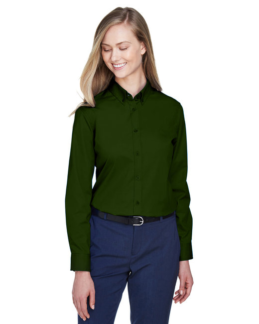 Core 365 Ladies' Operate Long-Sleeve Twill Shirt - Forest