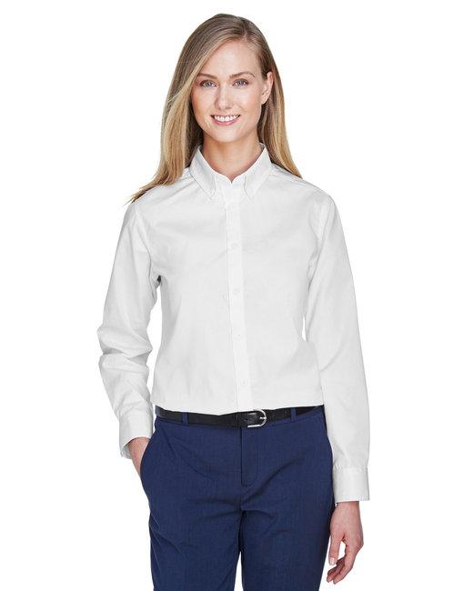 Core 365 Ladies' Operate Long-Sleeve Twill Shirt - White
