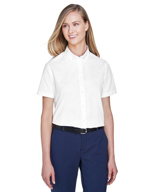 Core 365 Ladies' Optimum Short-Sleeve Twill Shirt - White
