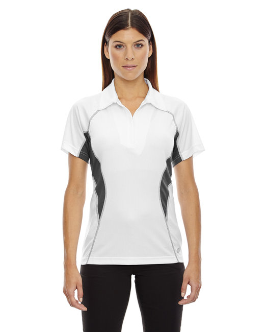 78657 Ash City - North End Ladies' Serac UTK cool?logik™ Performance Zippered Polo