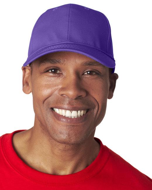 UltraClub Adult Classic Cut Cotton Twill6-Panel Cap - Purple