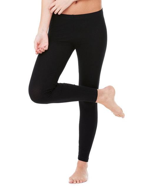 Bella + Canvas Ladies' Cotton/Spandex Legging - Black