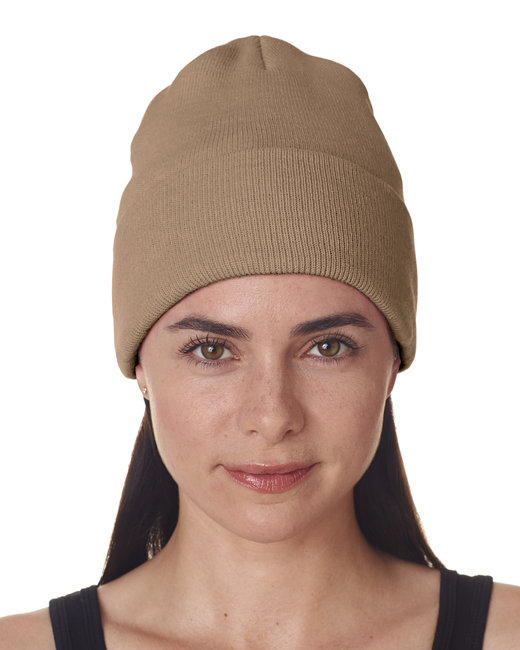 UltraClub Adult Knit Beanie with Cuff - Sandstone