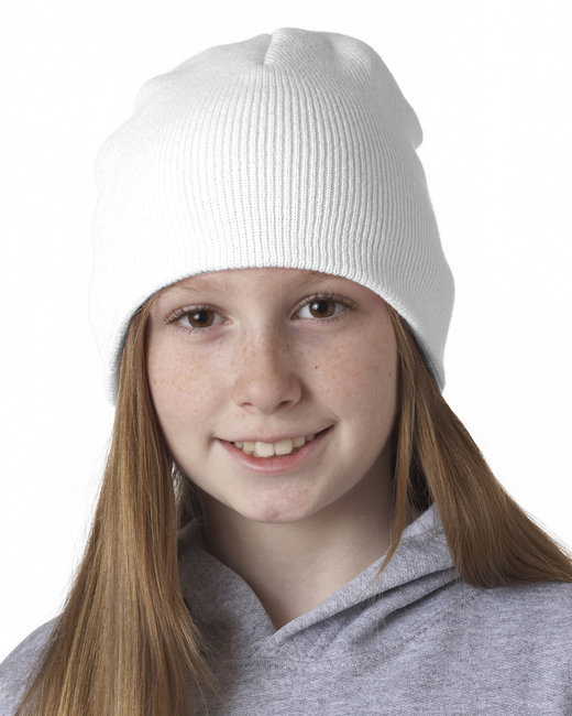 UltraClub Knit Beanie - White