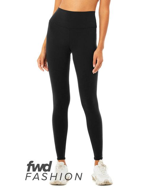 Bella + Canvas FWD Fashion Ladies' High Waist Fitess Legging - Black