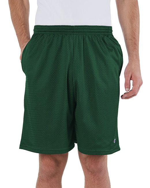 Champion Adult 3.7 oz. Mesh Short with Pockets - Athltic Dk Green