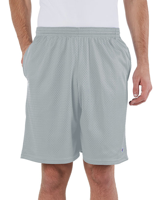 Champion Adult 3.7 oz. Mesh Short with Pockets - Athletic Grey