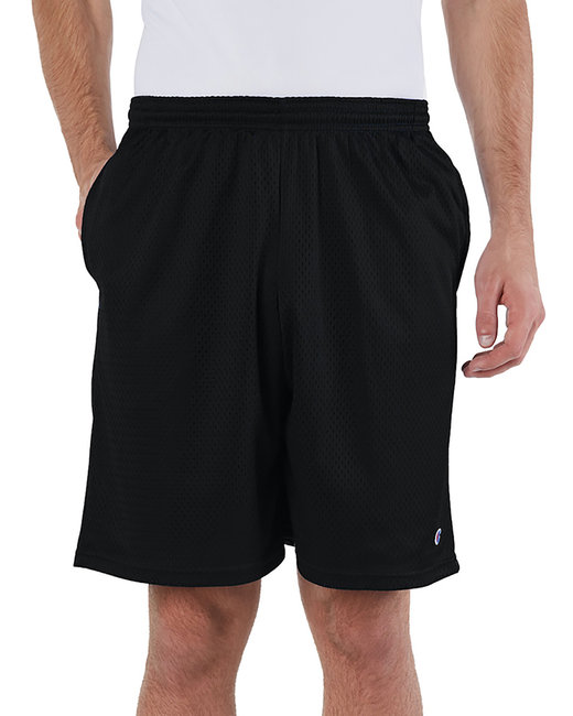 Champion Adult 3.7 oz. Mesh Short with Pockets - Black