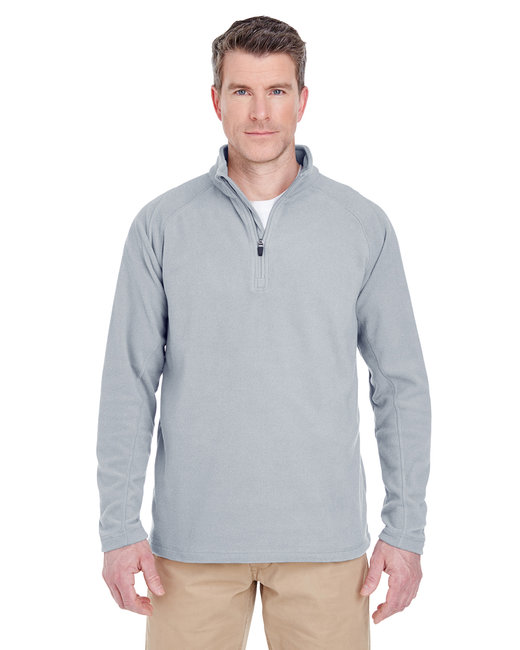 UltraClub Adult Cool & Dry Quarter-Zip Microfleece - Silver