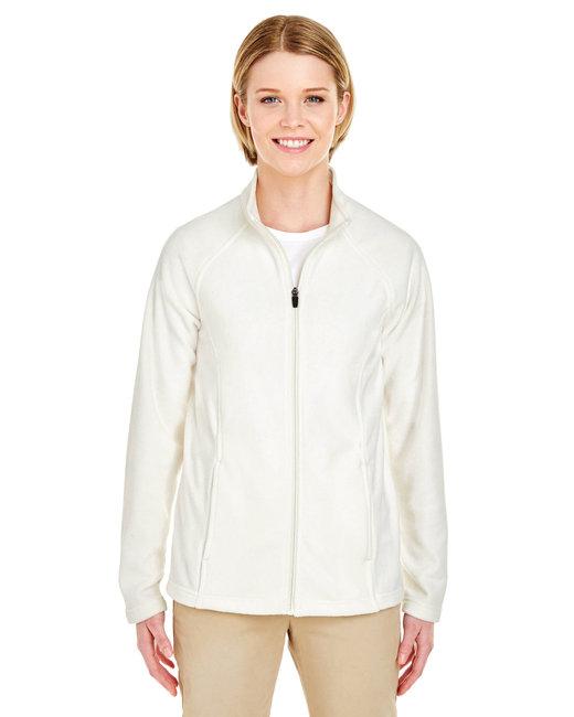UltraClub Ladies' Cool & Dry Full-Zip Microfleece - Winter White
