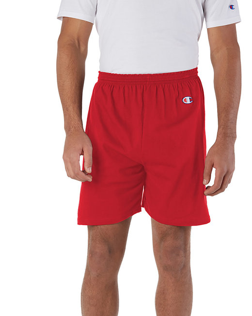Champion Adult Cotton Gym Short - Scarlet