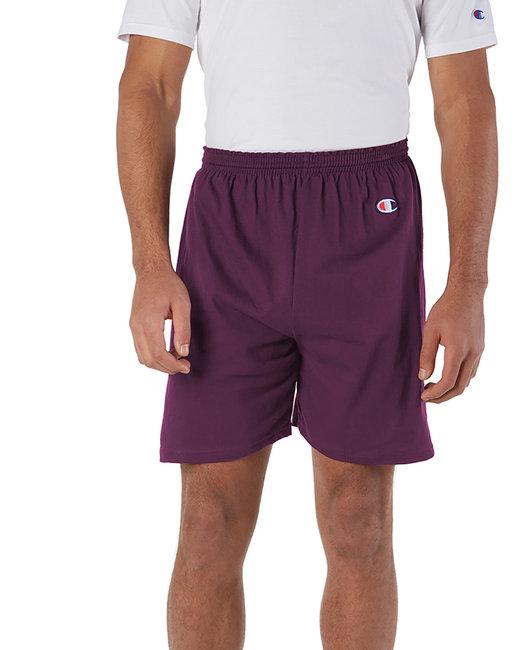 Champion Adult Cotton Gym Short - Maroon