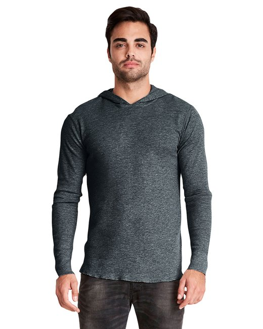 Next Level Adult Thermal Hoody - Heather Charcoal