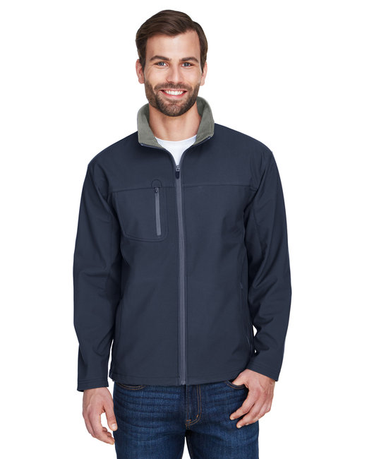 UltraClub Adult Ripstop Soft Shell Jacket with Cadet Collar - Navy