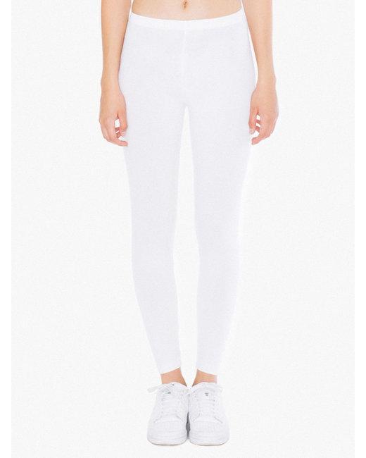 American Apparel Ladies' Cotton Spandex Jersey Leggings - White