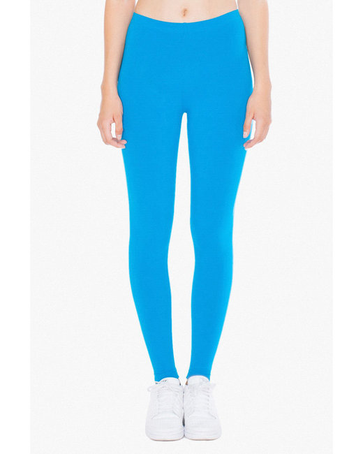American Apparel Ladies' Cotton Spandex Jersey Leggings - Teal