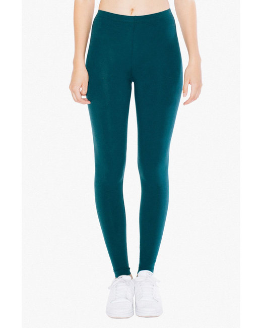 American Apparel Ladies' Cotton Spandex Jersey Leggings - Forest