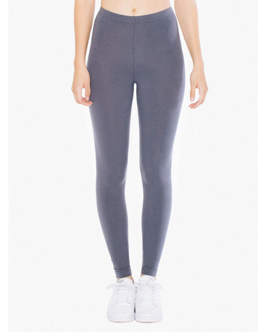 American Apparel Ladies' Cotton Spandex Jersey Leggings - Asphalt