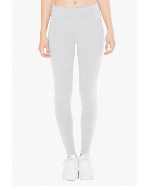 American Apparel Ladies' Cotton Spandex Jersey Leggings - Heather Grey