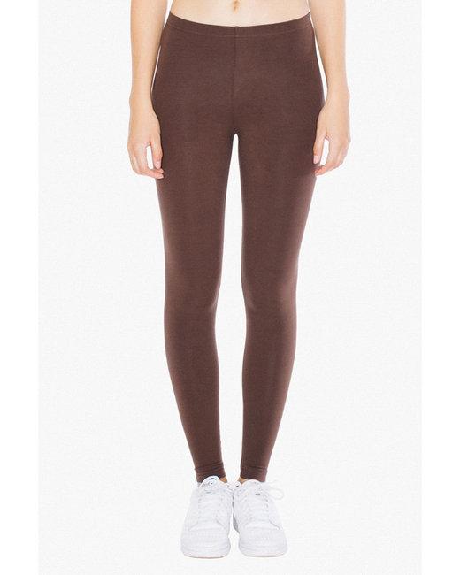 American Apparel Ladies' Cotton Spandex Jersey Leggings - Brown