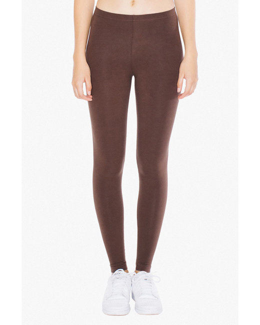 American Apparel Ladies' Cotton Spandex Jersey Leggings - Brown