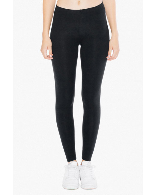 American Apparel Ladies' Cotton Spandex Jersey Leggings - Black