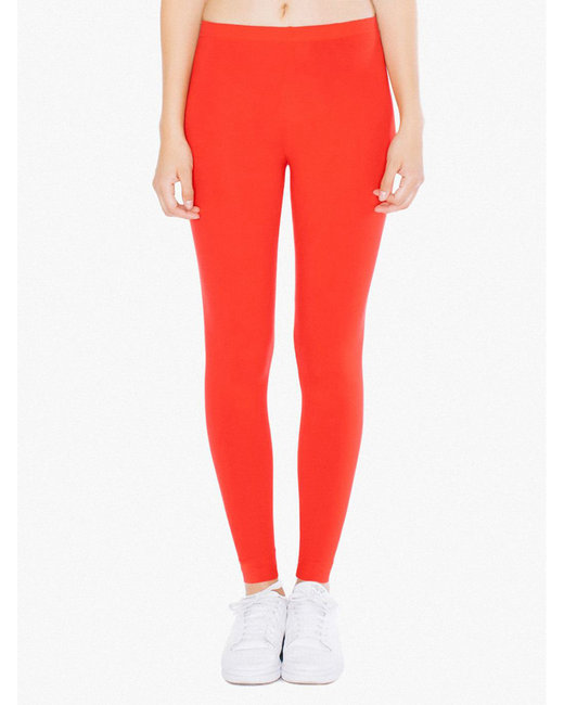 American Apparel Ladies' Cotton Spandex Jersey Leggings - Red